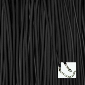 Black Rubber Necklaces