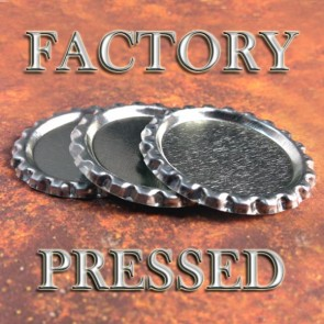 Flattened Bottle Caps No Holes Factory Pressed
