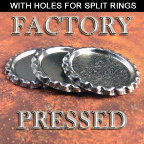 Flattened Bottle Caps With Holes Factory Pressed