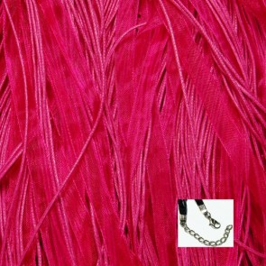 Hot Pink Organza Ribbon Necklaces