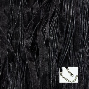 Black Organza Ribbon Necklaces