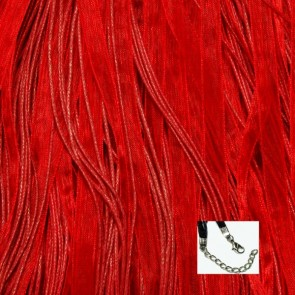 Red Organza Ribbon Necklaces
