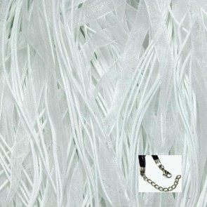 White Organza Ribbon Necklaces