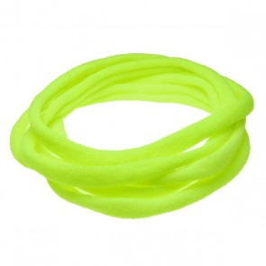 Neon Yellow Medium Nylon Choker Necklace