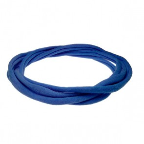 Blue Large Nylon Choker Necklace