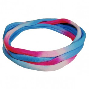 Blue/White/Pink TieDye Medium Nylon Choker Necklace