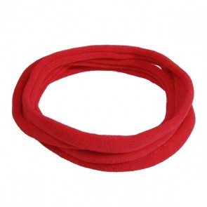 Red Medium Nylon Choker Necklace