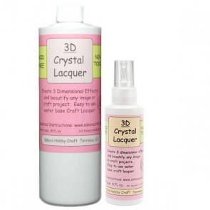 COMBO PACK - 3D Crystal Lacquer - 18 OZ & 2 OZ Bottle