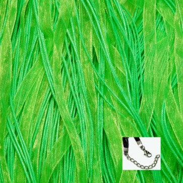 Lime Green Organza Ribbon Necklaces