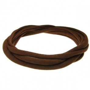 Brown Large Nylon Choker Necklace