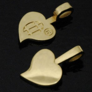 Aanraku Large 18K Gold Plated Heart Bails