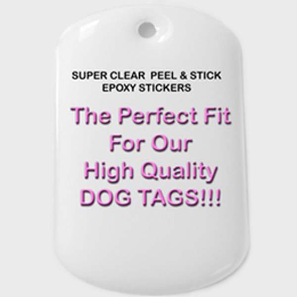 Standard Military Dog Tags With Epoxy Stickers Included