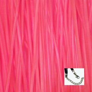 Hot Pink Rubber Necklaces