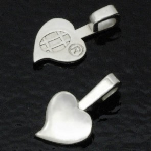 Aanraku Medium Silver Plated Heart Bails