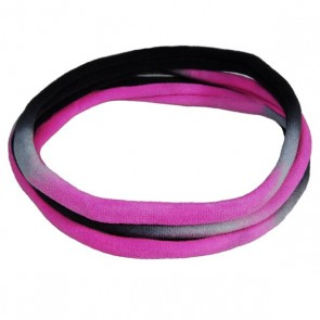 Black/White/Pink TieDye Medium Nylon Choker Necklace