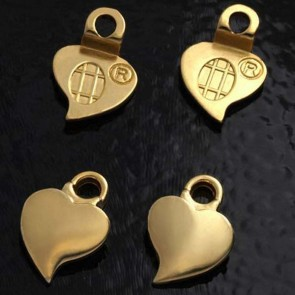 Aanraku 18K Gold Plated Heart Earring Bails