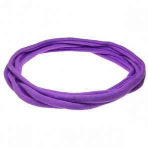 Purple Large Nylon Choker Necklace